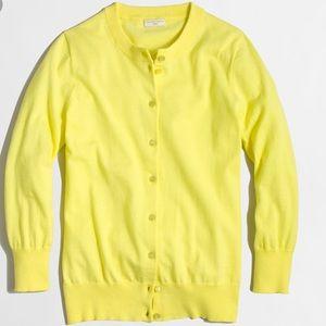 Jcrew Clare cardigan xs yellow
